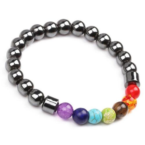 7 Chakra Heilung Perlen Gewicht Verlust Armband Hämatit Stein Armband ZP