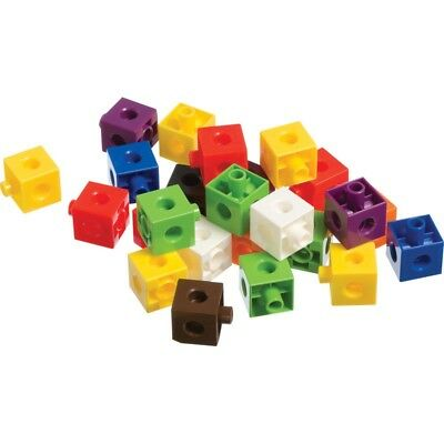100 x 2cm Snap Cubes & Board - Counting Linking Building Maths Early Learning 10