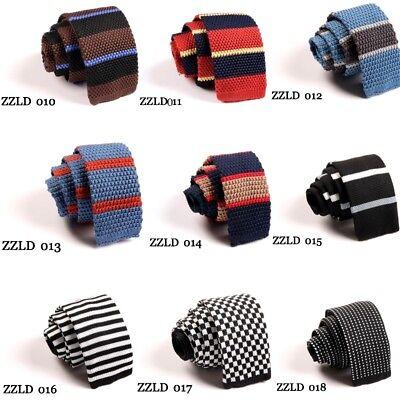 Men/'s Fashion Colourful Tie Knit Knitted Tie Necktie Narrow Slim Skinny Woven TA