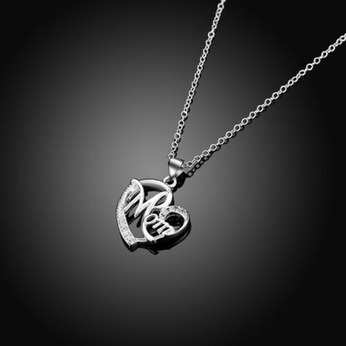 Women Lady Mom Pendant Necklace Gift for Mother Daughter Grandmother Jewelry US 3