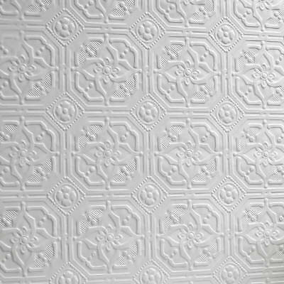 1 Of 2FREE Shipping Paintable Wallpaper Textured Embossed Luxury Vinyl  Flower Floral Derby Anaglypta