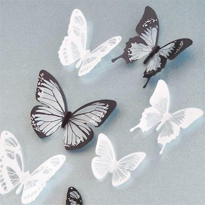 1 Of 5FREE Shipping 18pcs DIY 3D Butterfly Wall Stickers Art Decal PVC  Butterflies Home Decor New