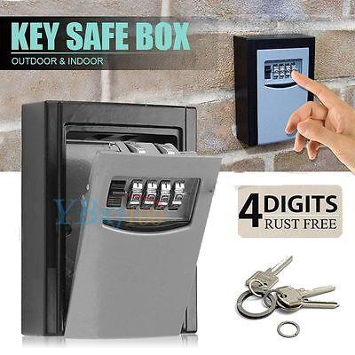 2 Of 10 4 Digit Combination Key Safe Security Storage Box Lock Case Wall  Mount Organizer