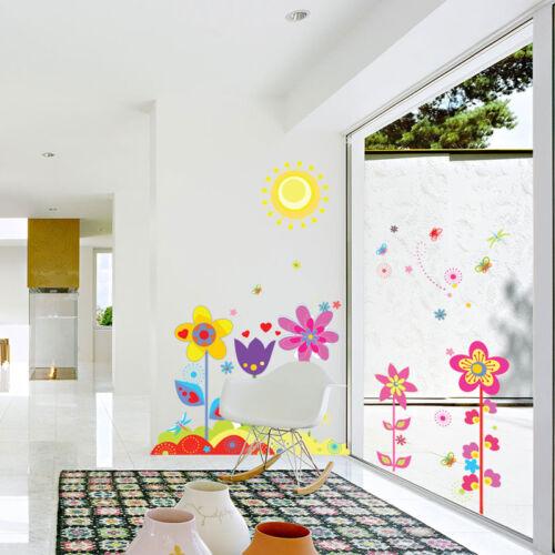 1 Von 11 Abnehmbare DIY Wandtattoo Blumen Wandsticker Aufkleber  Kinderzimmer Deko Verkauf