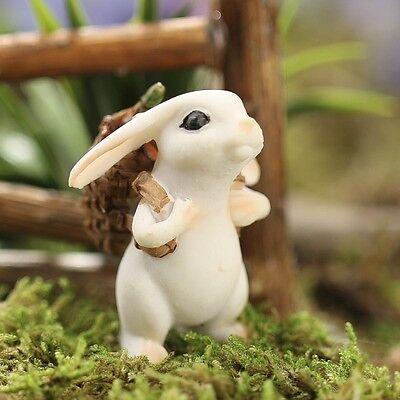 7 Of 8 Miniature Bunny Rabbit W Carrot GO 17449 Georgetown Fairy Garden