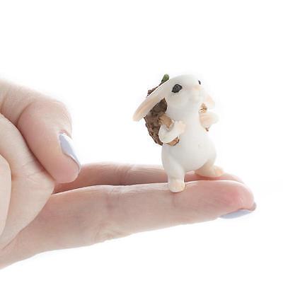 5 Of 8 Miniature Bunny Rabbit W Carrot GO 17449 Georgetown Fairy Garden