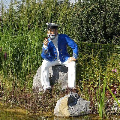 Wunderbar 4 Von 5 KAPITÄN MATROSE SEEMANN Sitzend Lebensgroß MARITIME DEKORATION  Garten Deko Figur