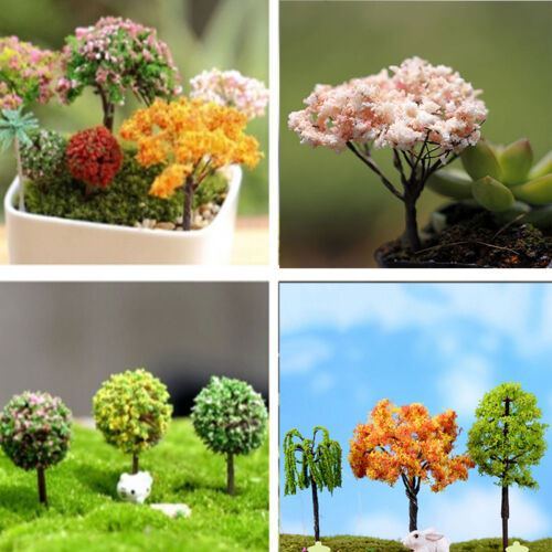 1 Of 11FREE Shipping Miniature Sakura Tree Plants Fairy Garden Accessories  Dollhouse Ornament Decor