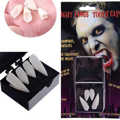 5 of 6 4PCS Halloween V&ire Fangs Werewolf Teeth Tooth Fancy Dress Costume Accessory  sc 1 st  PicClick & 4PCS HALLOWEEN VAMPIRE Fangs Werewolf Teeth Tooth Fancy Dress ...