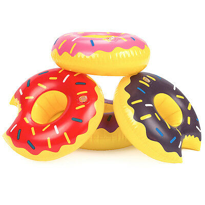 Superieur 11 Of 12 Fruit Donuts Unicorn Inflatable Drink Can Beer Holder Swan  Flamingo Beach Toys