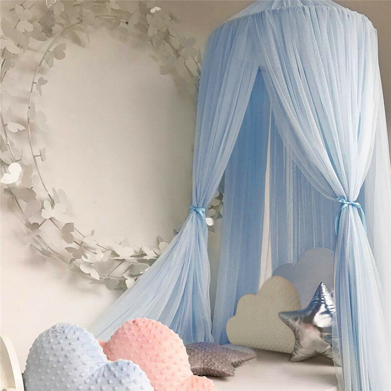 Children Boys Girls Bed Canopy Round Dome Mosquito Net Hanging Curtain AU Stock 8 8 of 12 ... & CHILDREN BOYS GIRLS Bed Canopy Round Dome Mosquito Net Hanging ...