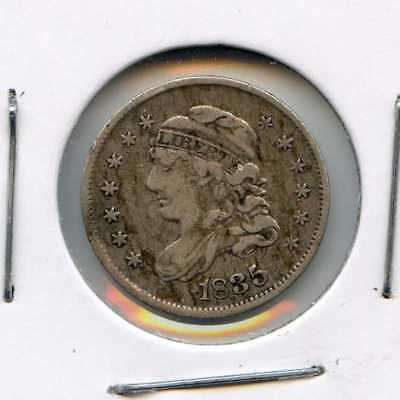 1835 H10C  Capped Bust Silver Half Dime. Circulated. Lot #2636 2