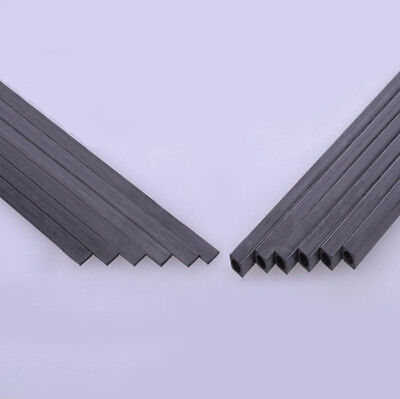 Carbon Fiber Square Tube & Sheet 1.7mm 2mm 3mm 4mm 5mm OD 200mm Or 400mm Length 3