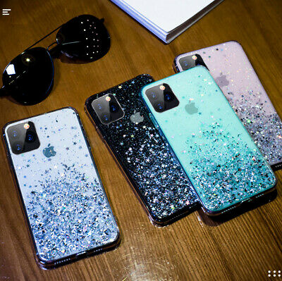For iPhone 11 Pro XS Max XR X 8 7 Plus Glitter Shockproof Protective Case Cover 5