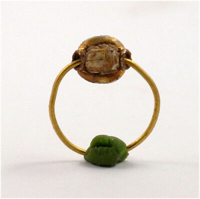 Egypt Third Intermediate Period 25th Dynasty a scarab gold ring