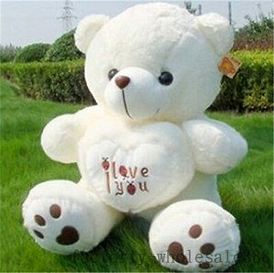 Awesome 3 Of 8 50cm Giant Large Cute Teddy Bear Plush Toys I Love You Xmas Gift  (Only Cover