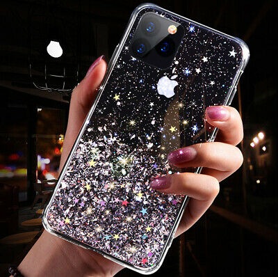 For iPhone 11 Pro XS Max XR X 8 7 Plus Glitter Shockproof Protective Case Cover 6