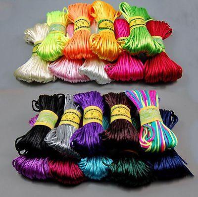 3mm Chinese Knot Satin Nylon Braided Cord Macrame Beading Rattail Thread Cords 4