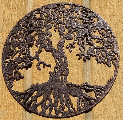 2 of 4 Tree of Life Metal Wall Art Home Decor Copper Vein  sc 1 st  PicClick & TREE OF LIFE Metal Wall Art Home Decor Copper Vein - $16.50 | PicClick