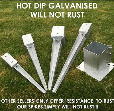 heavy duty galvanised bolt down fence post spikes 3