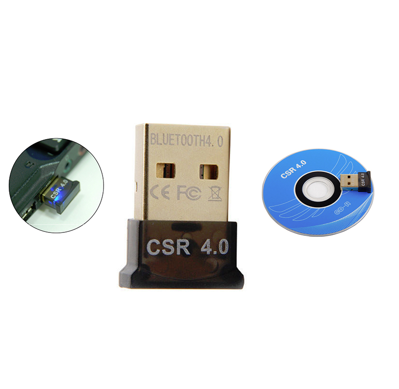 USB Bluetooth 4.0 CSR Dongle Adapter PC Laptop Headset Plug and Play PDA 300Mbps