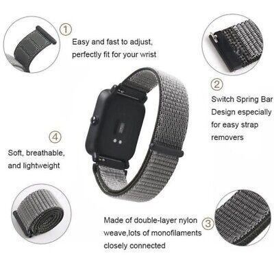 ✅ Für AMAZFIT Smartwatch Bip Lite GTS / GTR Armband 20mm 22mm Nylon Loop ✅ 2