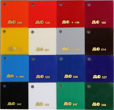 Acrylic CAST Sheet UV Stabled Full Range Solid Coloured Gloss 3MM PERSPEX 5