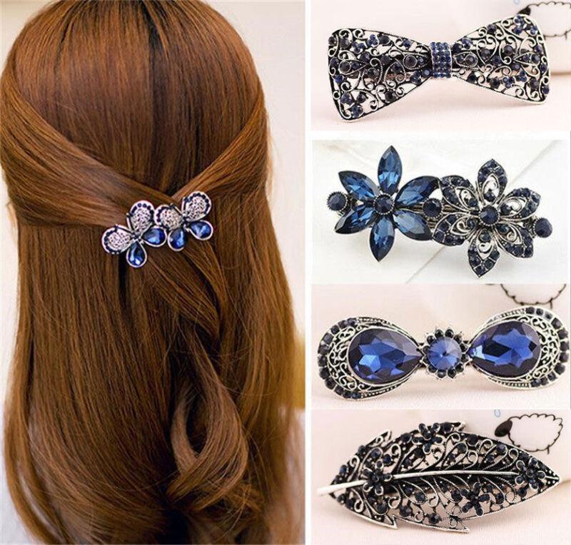Fashion Women Girls Gold Silver Animal Flower Hairpin Hair Clip Hair Accessories 4