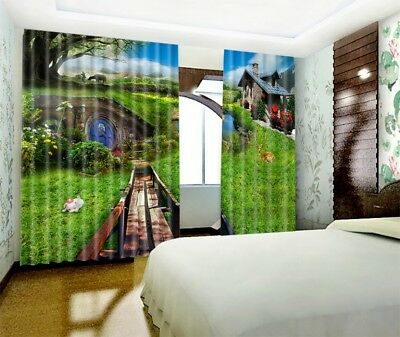 3D Pastoral Hut 62 Blockout Photo Curtain Printing Drapes Fabric Window CA Carly 3