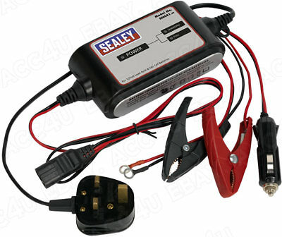 Sealey SMC01 12v Car Bike 3 Cycle 4 Step Automatic Battery Charger Maintainer 2