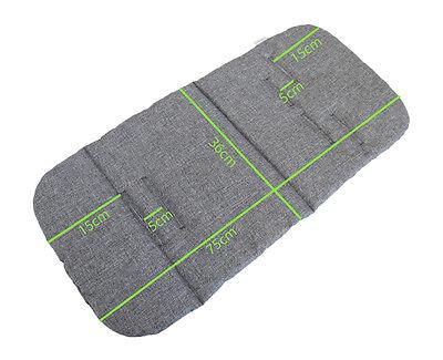 MINKY Pram Seat LINER Stroller INSERT Universal Reversible Grey Melange 11