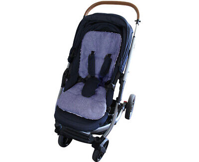 PRAM SEAT LINER GOOSEBERRY Natural Lambs Wool Universal Blue Jeans 4