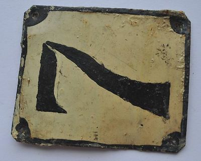 1900s Imperial Russia Apartment Flat Door Number Sign #7 RARE TIN TYPE 3