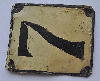 1900s Imperial Russia Apartment Flat Door Number Sign #7 RARE TIN TYPE 3