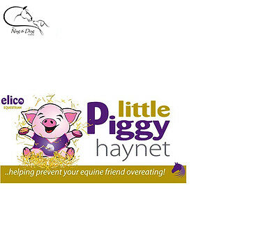 Equestrian Sporting Goods ELICO LITTLE PIGGY HAYNET HAYLAGE NET SMALL HOLES 30MM PINK STANDARD BLACK LARGE