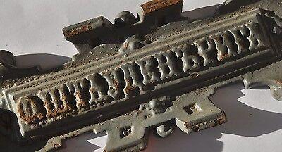 Late 19th Century Imperial Russia LARGE Sign F. STAUDEN RIGA Cast Iron 7