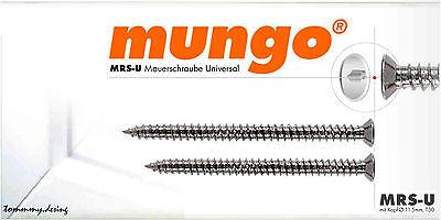 Universal 7,5 x 70 mm mit Senkkopf T30 von Mungo MRS-U Mauerschraube