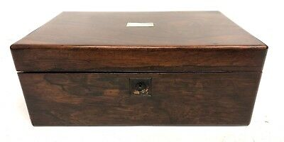 Antique Rosewood & Mother of Pearl Inlaid Writing Box / Slope for Restoration 4