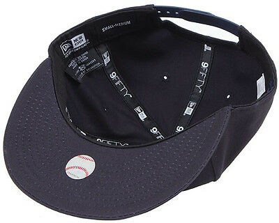 New Era Mens 9Fifty Baseball Cap.new York Yankees Navy Flat Peak Snapback Hat 53 4