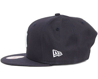 New Era Mens 9Fifty Baseball Cap.new York Yankees Navy Flat Peak Snapback Hat 53 5