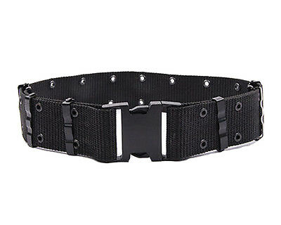 Men Adjustable Survival Army Military Tactical Belts Heavy Duty Combat Waistband 2