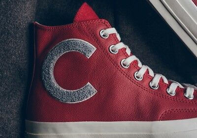CONVERSE CHUCK TAYLOR all Star 70 Wordmark Wool High Top Red size 8.5. 159679C.