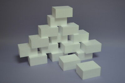 Styropor Würfeln 40 Stück 8x8x8 cm Form quadratisch Bekleben Bemalen Schaum DIY