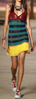 Vestito Donna Mini Copricostume - Woman Crochet Mini Dress Cover up 110164 2