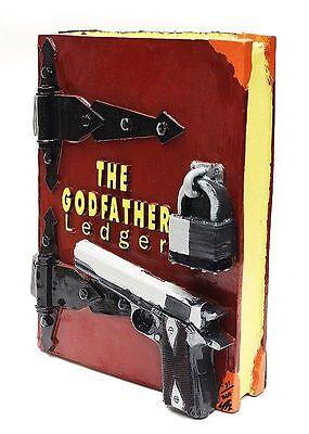 Steve Kaufman Original Escultura The Godfather Ledger Libro Firmado Pintura Arte 3