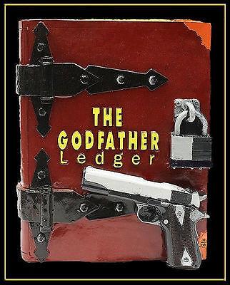 Steve Kaufman Original Escultura The Godfather Ledger Libro Firmado Pintura Arte 2