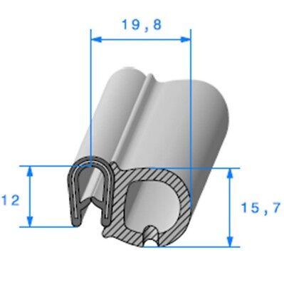 Joint de portiere ou de coffre adaptable vendu au mètre 2