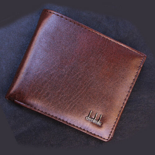Men's Black Business Leather Wallet Pocket Card Holder Clutch Bifold Slim Purse 4
