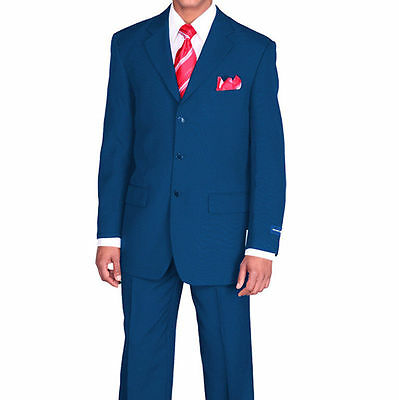 Men/'s Basic Suit Single Breasted 3 Button 14 colors Sizes 36-60 Fortino Landi