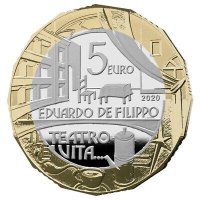"""2020 * 5 Euro Bimetallico ITALIA """"Grandi Artisti Italiani - Eduardo De Filippo"""" 2"""